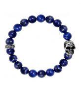 King Baby Lapis Skull Bracelet Sterling