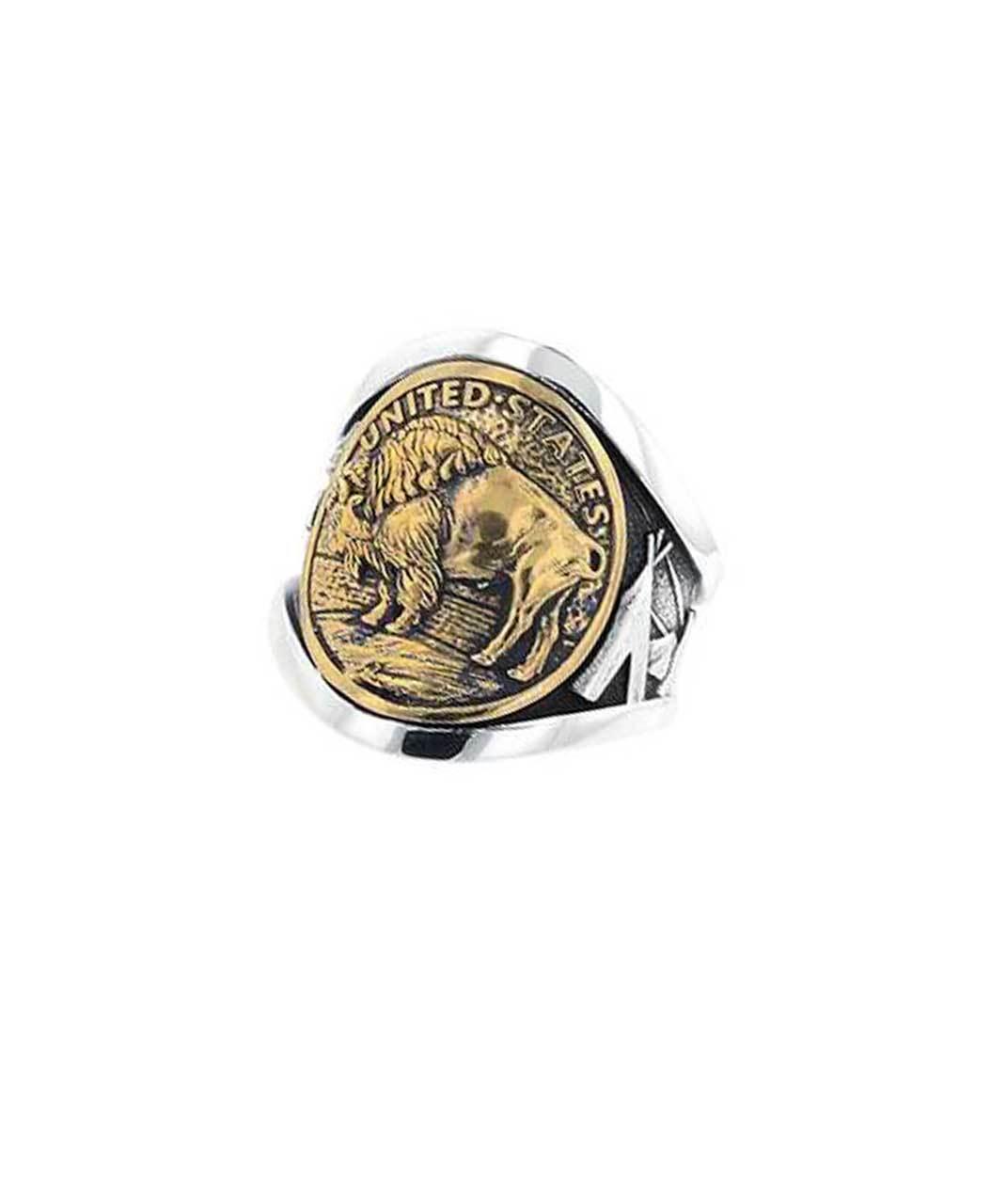 King Baby Buffalo Nickel Cigar Band Silver And Gold Alloy