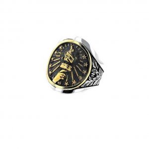King Baby Torch Cigar Band Silver And Gold Alloy
