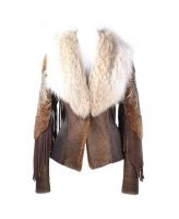 Kippys Zaharote Shearling Jacket With Fur Collar