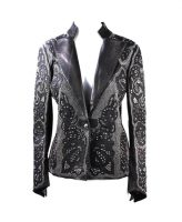 Kippys Black Glamvamp Studded Leather Blazer