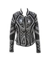 Kippys Victoria Embroidered Elements Black Jacket With Pearls