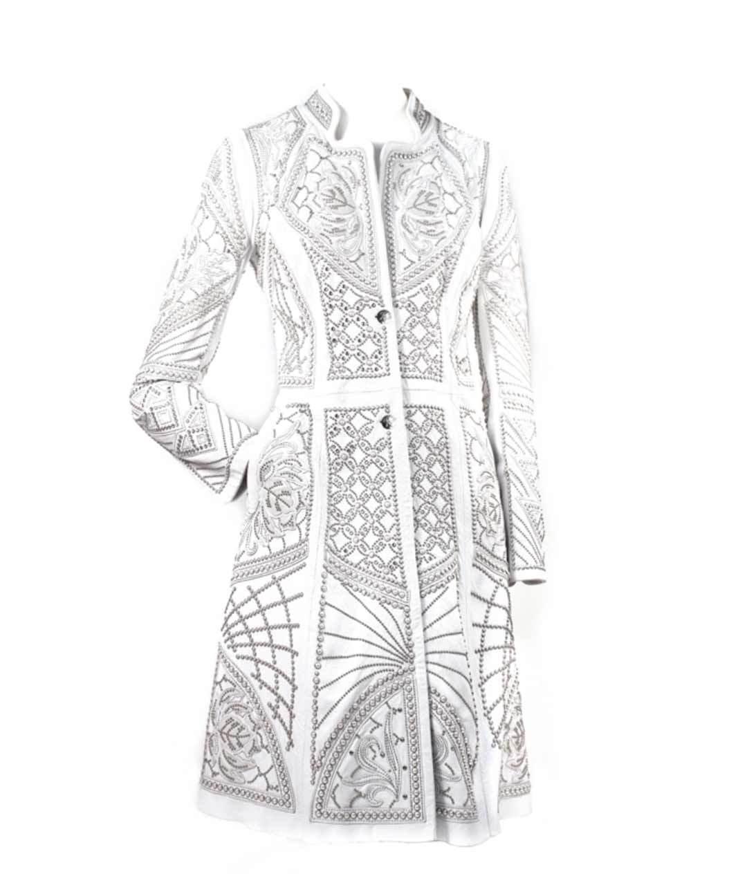 Kippys Pearl Elements Ceremonial Coat White