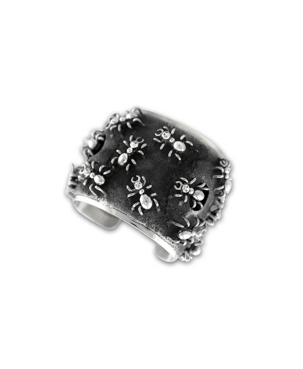Larry Martinez Chavez Sterling Silver Ant Colony Cuff