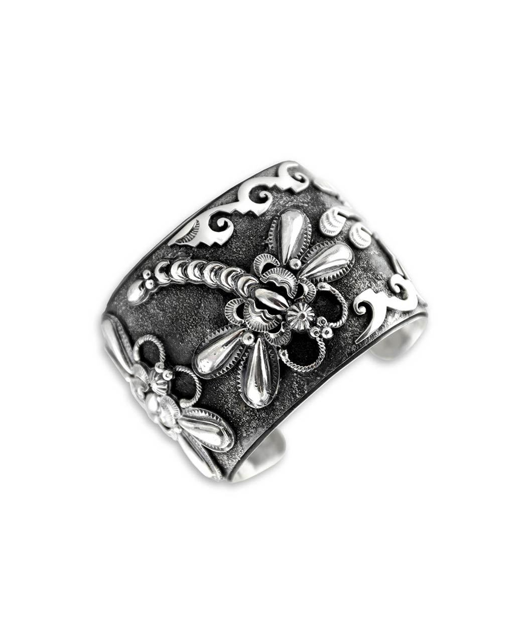 Larry Martinez Chavez Sterling Silver Dragonfly Cuff