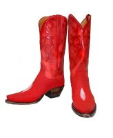 Lucchese - Classic Imperial Red Stingray Skin Boots
