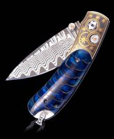 William Henry Kestrel Blue Moon Beautiful Pocket Knife