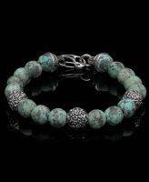 William Henry Men's Beaded Bracelet Verdigirs