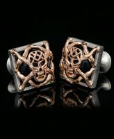 William Henry Outlaws Skull Cufflinks