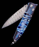 William Henry Gentac Blue Night Mammoth Pocket Knife