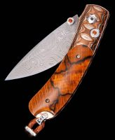 William Henry Kestrel Sand Storm Beechwood Inlay Pocket Knife