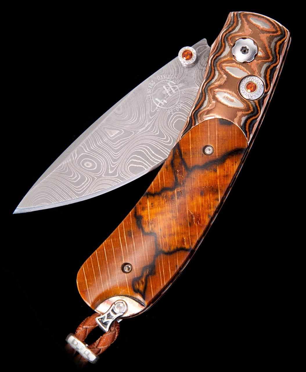 William Henry Kestrel Sand Storm Beechwood Inlay Pocket Knife