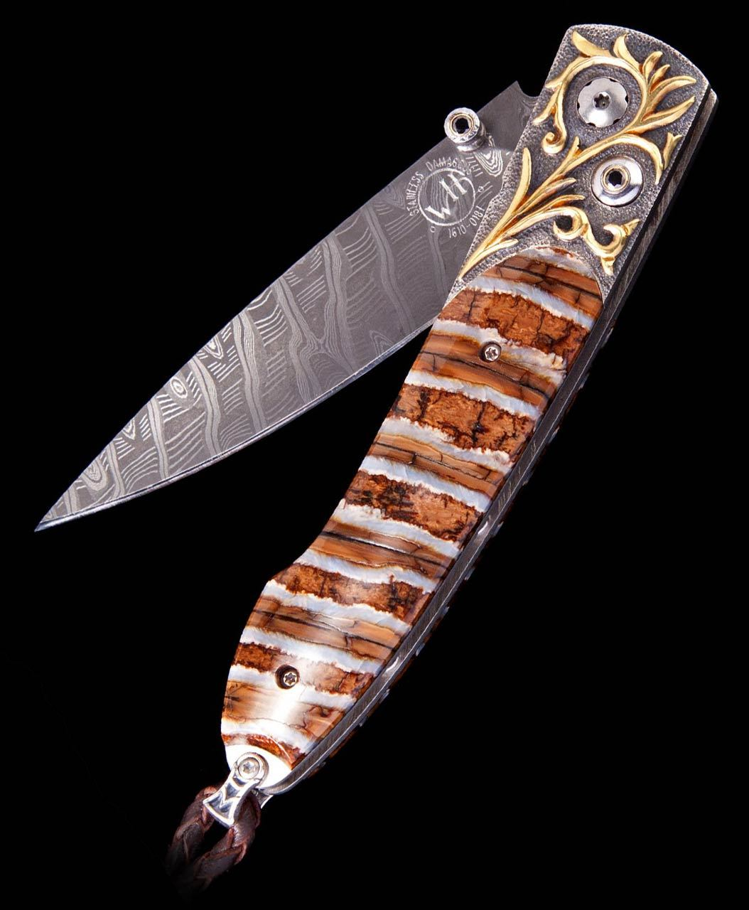 William Henry Lancet Golden Age Mammoth Inlay Pocket Knife