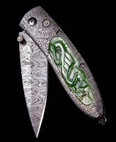 William Henry Monarch Artemis Carved Green Jade Pocket Knife