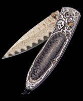 William Henry Monarch Corsair Carbon Fiber Inlay Pocket Knife