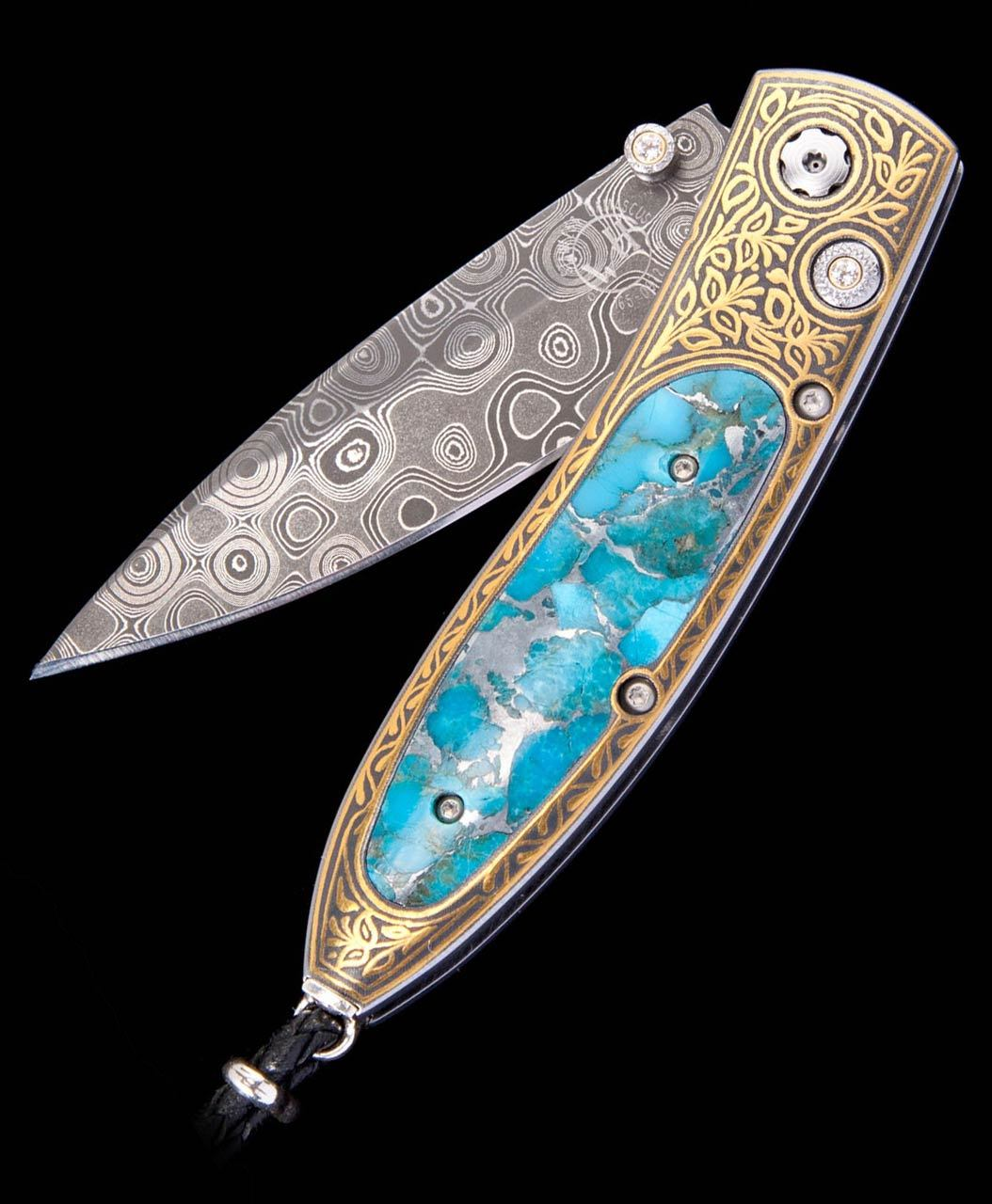 William Henry Monarch Gold Mine Kingman Turquoise Pocket Knife