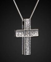 William Henry Sterling Silver Unum Men's Cross Necklace