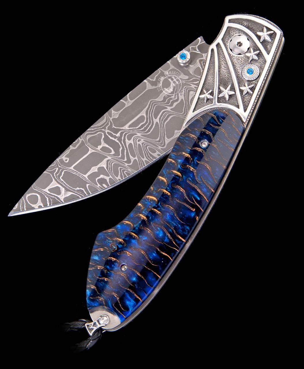 William Henry Spearpoint Blue Star Pocket Knife